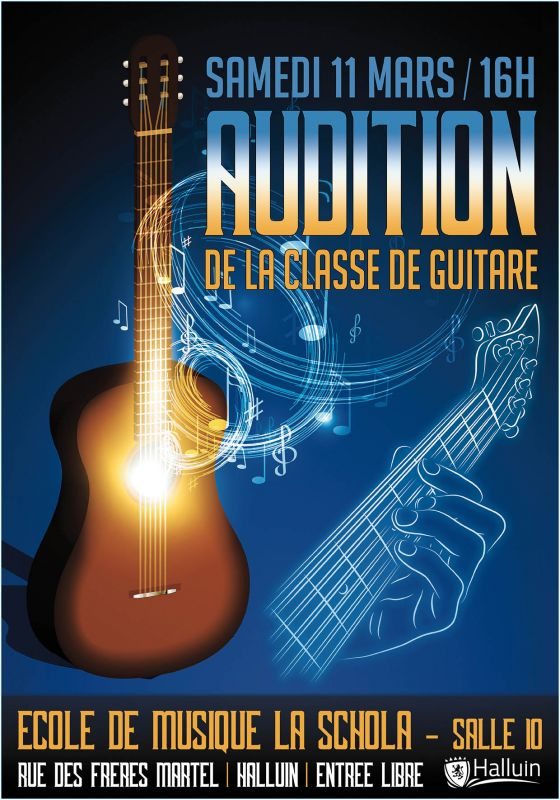 Audition de la classe de guitare